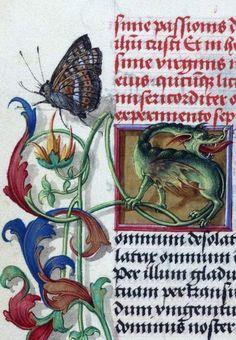 Leeds University, Brotherton 11, detail of f. 98v. Prayer book, c1500-1520.