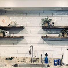 Industrial Floating Shelves, Rustic Shelves, White Oak Wood, Walnut Wood, J Thomas, Solid Wood Shelves, Shelf Supports, Book Storage, Wood Screws