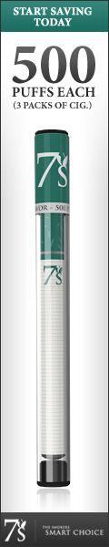 #7's Disposable E-Cigs - 500 Puffs Each