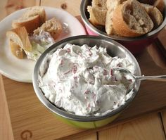 Cream Cheese & Dried Beef Dip. It might sound weird, but it's some of the most addicting salty deliciousness I've EVER eaten.