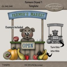 Farmers Stand 1 Template