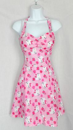 Valentine's Day Hello Kitty dress by CandiedStarfish on Etsy, $40.00