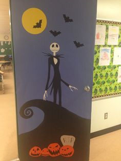 jack skellington halloween door disney halloween halloween outfits halloween treats christmas door