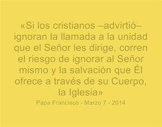 ¿Está la unidad de los Cristianos en tus oraciones diarias? Lee más en: www.news.va/es/news/el-papa-al-secretario-general-del-consejo-mundial