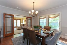 @benjamin_moore  #HomeStaging Paint Colors light and revere pewter in the #diningroom #interiors