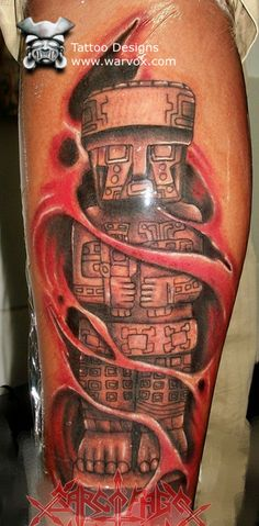 Olmec God Tattoo