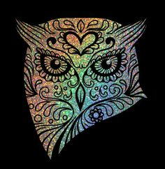Glitter Owl Car Decal by AbbysClosetTX on Etsy