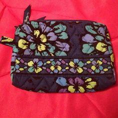 Vera Bradley indigo pop cosmetic case Indigo pop medium cosmetic case. Like new Vera Bradley Bags Cosmetic Bags & Cases