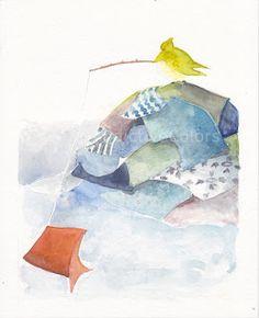 """""""A pesca di stracci""""- da """"Tre stelle e un vestitino""""  #ChildrenIllustration #Illustration"""