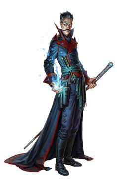 Male Human Conjurer Wizard - Pathfinder PFRPG DND D&D d20 fantasy