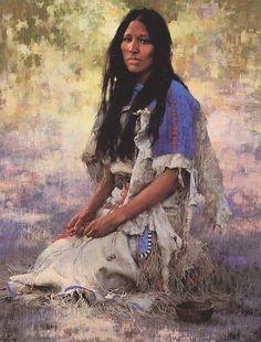 Native American Women Art | Art of the Native American Women: Isdzan - Apache Woman