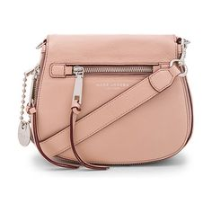 Recruit small saddle bag by Marc Jacobs. Leather exterior with nylon fabric lining. Flap top with magnetic button closure. Detachable adju...