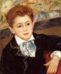 Pierre-Auguste Renoir (French, Impressionism, 1841-1919): Paul Meunier, 1877. Oil on canvas. Private Collection