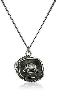 """Pyrrha """"talisman"""" Sterling Silver Elephant Necklace, 18"""" ** You can find out more details at the link of the image."""