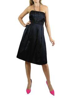 VALENTINO Black Strapless Cocktail Dress. 8 $475 http://www.boutiqueon57.com/products/valentino-black-strapless-cocktail-dress-8