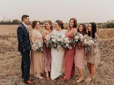 Beautiful bridesmaids in blush pink.