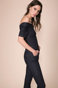 Off the Shoulder Jumpsuit | Alpha - 3x1 | 3x1 | Made Here