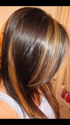 Chunky Blonde Highlights Highlights And Dark Brown On