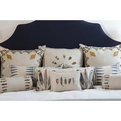 for the home...embroidered feather pillow