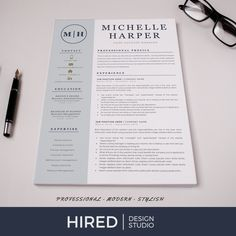 Professional & Modern Resume / CV Template for Word and Pages Cover Letter Design, Cover Letter Template, Letter Templates, Letter Designs, Resume Cv, Resume Writing, Resume Design, Modern Resume Template, Cv Template