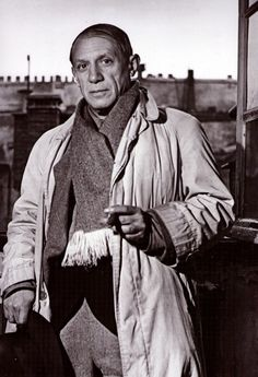 #PabloPicasso by #Brassaï. http://www.webcards.pro