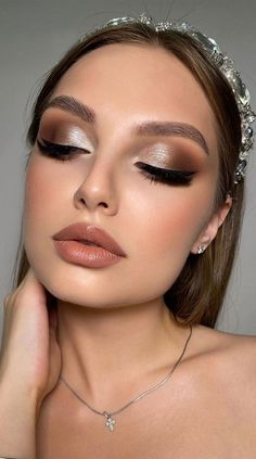 Neutral Makeup Look, Soft Eye Makeup, Glam Makeup Look, Eye Makeup Steps, Blue Eye Makeup, Hair Makeup, Prom Makeup Blue Dress, Makeup Looks Blue Eyes, Prom Make Up For Blue Dress