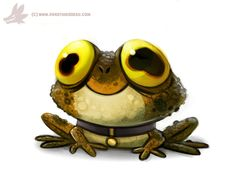 Daily Paint #999. ALL GLORY TO THE HYPNOTOAD (FA) by Cryptid-Creations on DeviantArt