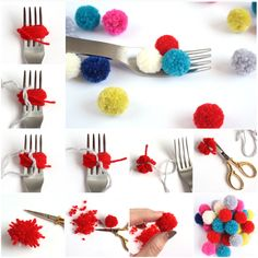 33 craft ideas, how to do tassels and pompom yourself .- 33 Bastelideen, wie man Quasten und Bommel selber machen kann DIY ideas make DIY IDeen bommel tassel instructions - Kids Crafts, Diy Home Crafts, Crafts For Teens, Crafts To Sell, Craft Projects, Arts And Crafts, Craft Ideas, Kids Diy, Pom Pom Crafts