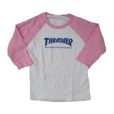 Thrasher skateboard magazine Toddler t-shirt in white blue pink at ...