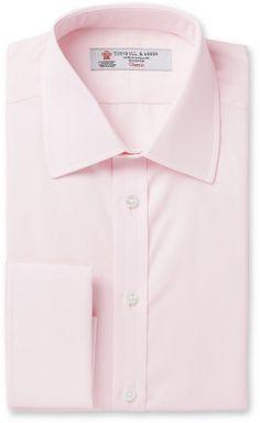 Turnbull & Asser Pink Double-Cuff Cotton Shirt sur shopstyle.fr