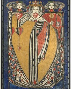 """""""Queen of Hearts, Spades, Diamonds and Clubs by Margaret Macdonald Mackintosh, one of the defining artists of the """"Glasgow Style"""" Charles Rennie Mackintosh, Arts And Crafts For Teens, Art And Craft Videos, Arts And Crafts Projects, Art Nouveau, Dollar Store Crafts, Crafts To Sell, Klimt, William Morris"""