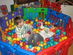 ball pit from baby gates