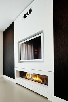 Note the recesses for the TV and fireplace.  This illustrates the recesses shown in Concept A.