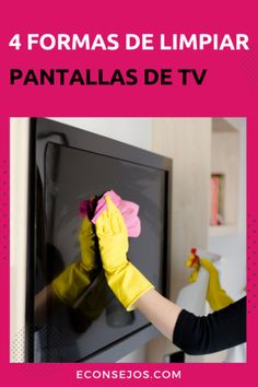 Clean TV screens: tips and tricks - e-Tips Diy Cleaning Products, Cleaning Hacks, Clean Tv Screen, Power Clean, Paint Colors For Living Room, Home Hacks, Declutter, Good To Know, Helpful Hints