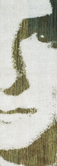 Anne Stabell / absolutetapestry.com lovely use of open warps for part of the shading