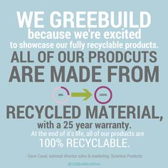 Scranton Products on why they #Greenbuild #quotes #inspiration