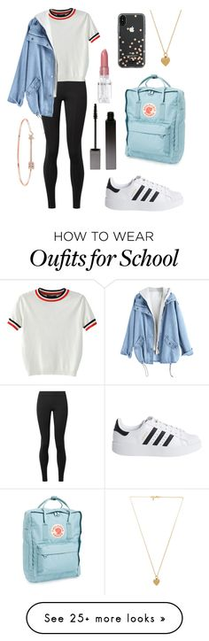 """School Outfit"" by brucethedoggy on Polyvore featuring The Row, WithChic, Vanessa Mooney, adidas Originals, Serge Lutens, Rodin, Anne Sisteron, Fjällräven and Kate Spade"
