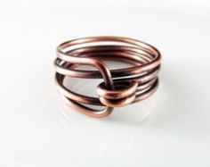 wire wrapped jewelry handmade ringcopper wire by BeyhanAkman