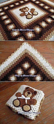 Crochet Heart Blanket, Baby Afghan Crochet, Crochet Quilt, Manta Crochet, Crochet Squares, Crochet Granny, Crochet Blanket Patterns, Crochet Motif, Crochet Stitches