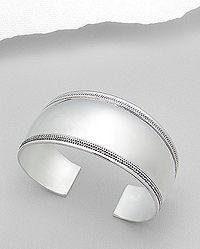 Sterling Silver Cuff Bracelet. Width: 30 mm Diameter: 52 x 60 mm $199.95 Free Shipping!