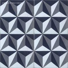 Cement Tile Shop - Encaustic Cement Tile | Harlequin Triangles
