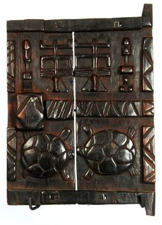 Africa   Hand carved granary door from the Dogon people of Mali   Wood
