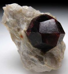 The word Garnet comes from the Latin, 'granatus' meaning grain. This is a possible reference to the pomegranate fruit which has seeds of a similar shape size and color to some garnet stones.