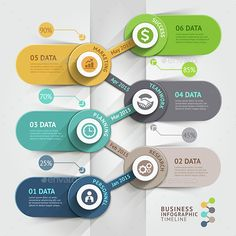 Business Timeline Infographics Template. — Photoshop PSD #layout #pictogram • Available here → https://graphicriver.net/item/business-timeline-infographics-template/14568105?ref=pxcr