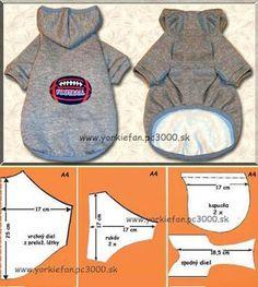 """Patrones o moldes para confeccionar ropa para mascotas, en este caso los patrones están orientados a perros yorkshire terriers y otros perros pequeños. Aun así, con el patrón puedes adaptarlo, ampliando las medidas para mascotas o perros mas grandes. Patrones para ropa de mascotas: Fuente patrones: http://www.yorkifan.com/ [su_divider size=""""5″ margin=""""25″] Ideas para vestir a tu mascota: …"""