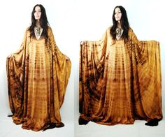 Serious love for immense caftans, aka muu muus. [sisters of the black moon ebay]