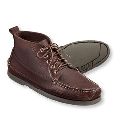 Men's Bean's Handsewn Moccasins, Ranger Moc Leather