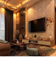 unit TV Cabinets 36 amazing wall tv cabinet designs for cozy family room 6 Modern Tv Cabinet, Tv Cabinet Design, Villa Interior, Home Interior, Interior Design, Interior Modern, Living Tv, Rugs In Living Room, Living Room Decor