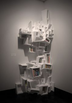 Experimental Bookshelves by Ulterior , via Behance