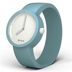 O clock watch - White face with Turquoise strap